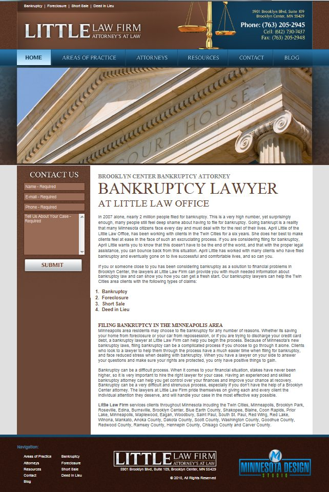 Mankato Lawfirm Web Design - Minnesota Lawyer Web Design