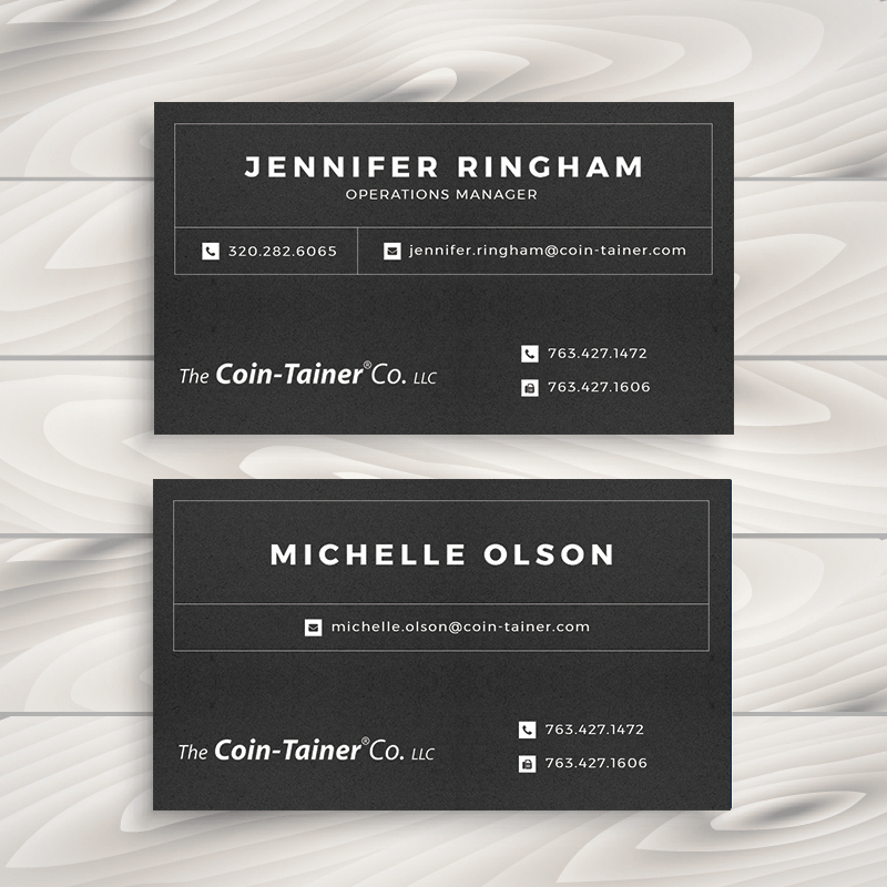 Business card design minneapolis web design company custom business card design reheart Images