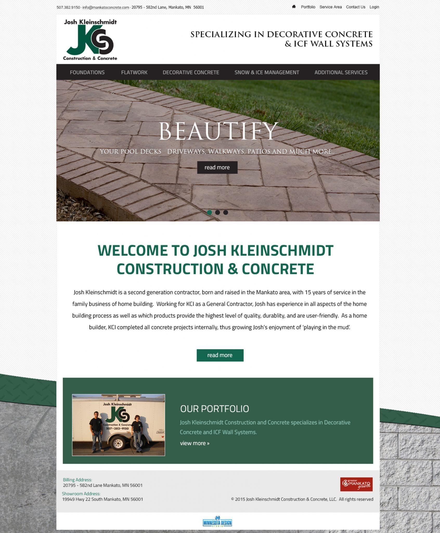 Josh Kleinschmidt Construction & Concrete