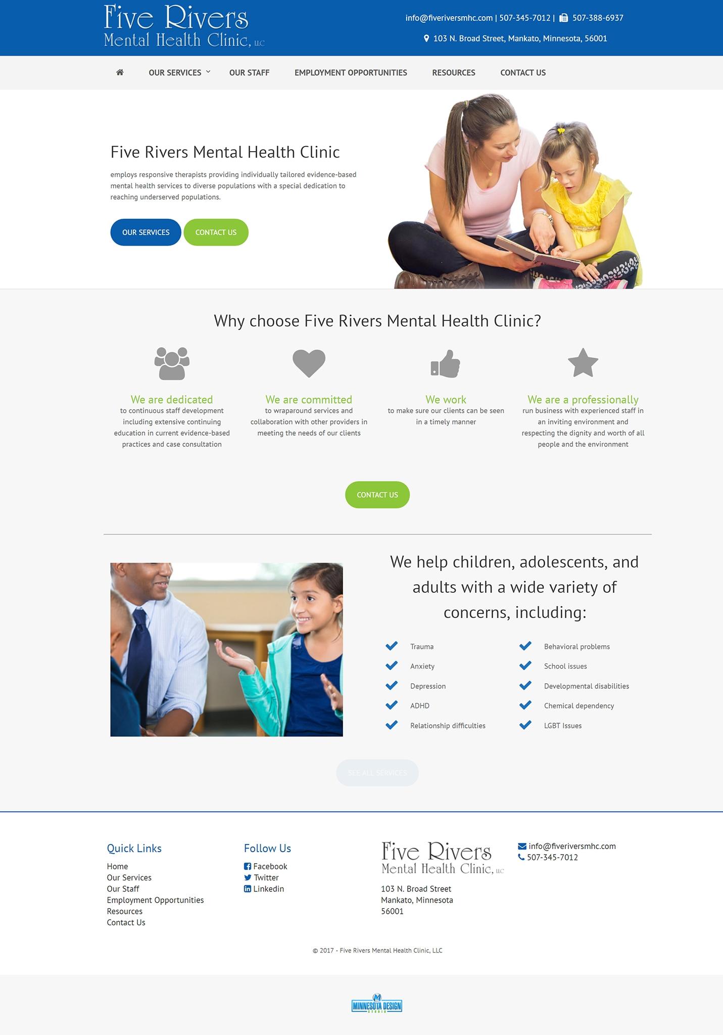 Five Rivers Mental Health Clinic Minnesota Design Studio